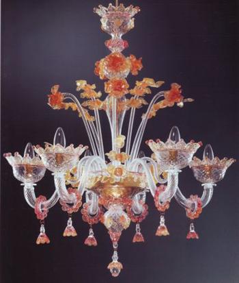 lampadari di vetro : lampadario in vetro di murano modello rezzonico lampadario in vetro